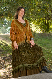 Bed Jacket with Flounce Skirt Plus